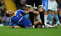 Fotball<br /> England<br /> Foto: Fotosports/Digitalsport<br /> NORWAY ONLY<br /> <br /> Joe Cole grimaces in pain with leg injury<br /> Chelsea 2008/09<br /> Chelsea V Aston Villa 05/10/08<br /> The Premier League