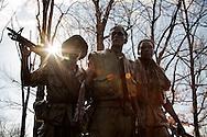 The nation's capitol, Washington, DC.<br /> The Vietnam Veteran's Memorial statue.