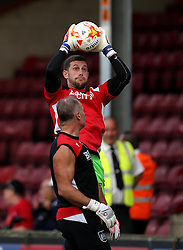 Frank Fielding of Bristol City warms up ahead of the EFL Cup match with Scunthorpe United - Mandatory by-line: Robbie Stephenson/JMP - 23/08/2016 - FOOTBALL - Glanford Park - Scunthorpe, England - Scunthorpe United v Bristol City - EFL Cup second round