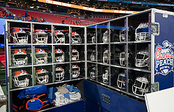 The Florida sideline prior to the Chick-fil-A Bowl Game at  the Mercedes-Benz Stadium, Saturday, December 29, 2018, in Atlanta. ( Paul Abell via Abell Images for Chick-fil-A Kickoff)