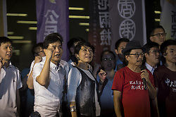 June 14, 2018 - Hong Kong - Protesters gather outside the Legislative Council complex in Hong Kong in Protest of the controversial rail bill for a joint border control with Mainland China in the heart of Hong Kong West Kowloon where the Guangzhou-Shenzhen-Hong Kong Express rail link terminus is located The Bill for Co-location has just been pass in Legislative Council in Hong Kong, China, 14 June 2018 . The Guangzhou-Shenzhen-Hong Kong Express Rail Link (Co-location) Bill is passed in Hong Kong Legco today ,  The 84.4 billion HKD (10.7 billion USD) high-speed rail link , the Co-Location bill has always been in Controversy , Critics say it is a violation of the basic law and but it is not a must to archive max effectiveness but on the other hand the government insisted that the Co-Location bill is a must to achieve the Fast and convince that was promise by the Express rail link . The Guangzhou-Shenzhen-Hong Kong Express Rail Link (Co-location) Bill allows for passengers to clear both Hong Kong and mainland border checks at a single location, which means mainland laws will be enforced on Hong Kong soil for the first time. (Credit Image: © Vernon Yuen/Pacific Press via ZUMA Wire)