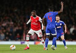 Nicolas Pepe of Arsenal on the ball - Mandatory by-line: Arron Gent/JMP - 27/02/2020 - FOOTBALL - Emirates Stadium - London, England - Arsenal v Olympiacos - UEFA Europa League Round of 32 second leg