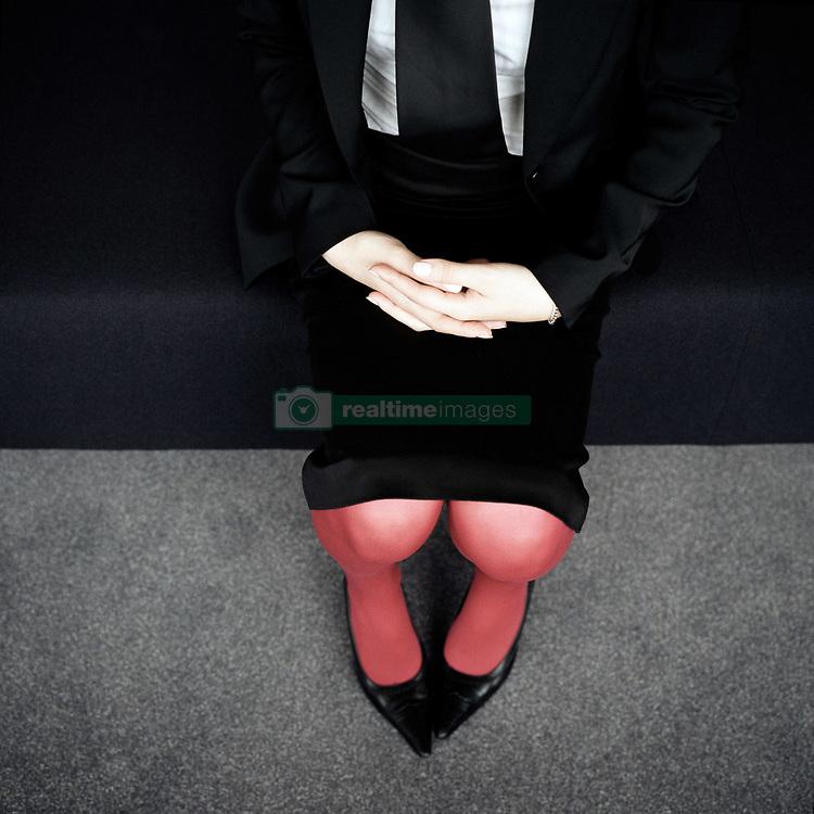 Dec. 05, 2012 - Businesswoman's lap (Credit Image: © Image Source/ZUMAPRESS.com)