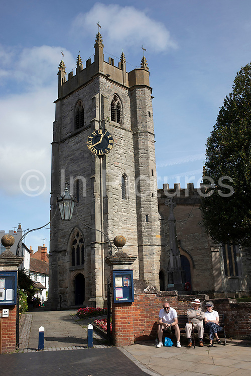 St Nicholas C of E Church in Alcester, United Kingdom. The Parish Church of St Nicholas which was originally built during the Medieval period. It is situated Church Street.