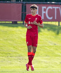 LIVERPOOL, ENGLAND - Wednesday, September 15, 2021: Liverpool's substitute Stefan Bajcetic Maquieira during the UEFA Youth League Group B Matchday 1 game between Liverpool FC Under19's and AC Milan Under 19's at the Liverpool Academy. Liverpool won 1-0. (Pic by David Rawcliffe/Propaganda)