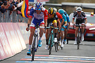 Arrival Thibaut Pinot (FRA - Groupama - FDJ) during the 101th Tour of Italy, Giro d'Italia 2018, stage 6, Caltanissetta - Etna 163 km on May 10, 2018 in Italy - Photo Luca Bettini / BettiniPhoto / ProSportsImages / DPPI