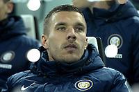 Lukas Podolski Inter,<br /> Torino 06-01-2015, Juventus Stadium, Football Calcio 2014/2015 Serie A, Juventus - Inter, Foto Filippo Alfero/Insidefoto