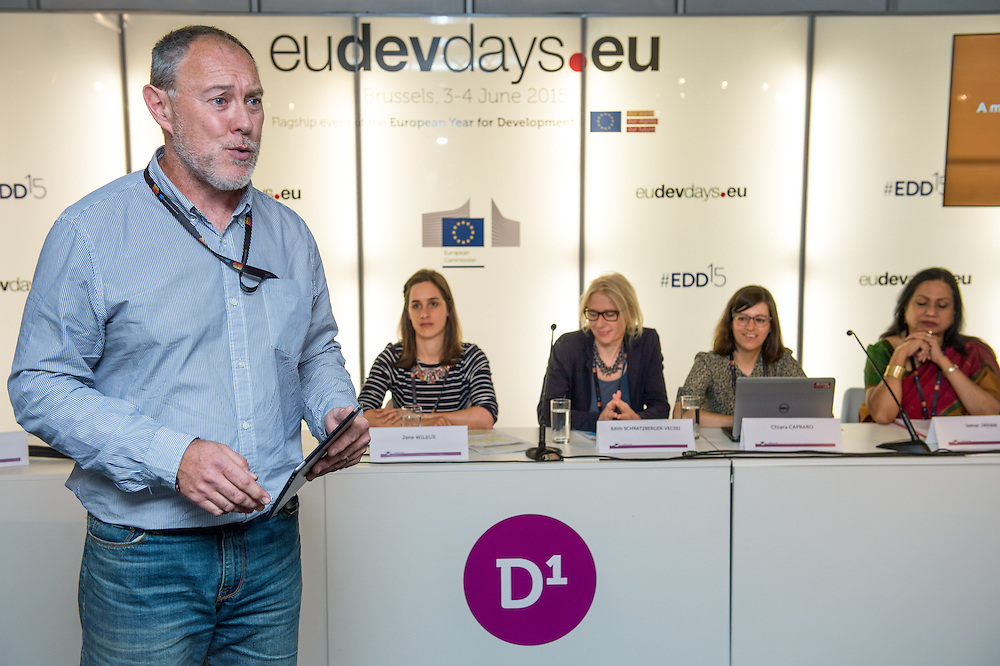 04 June 2015 - Belgium - Brussels - European Development Days - EDD - Gender - A matter of birth , life and death - Walking in the shoes of women and girls without access to water , sanitation and hygiene © European Union