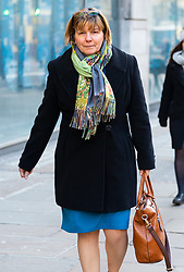 Former Colonel Mary Roohan outside her employment tribunal at Victory House in London after claiming she was hounded out of her job after whistle-blowing. London, January 28 2019.