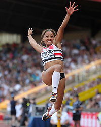 Great Britain's Jazmine Sawyers competes in the Women's Long Jump Final during day two of the Muller British Athletics Championships at Alexander Stadium, Birmingham.