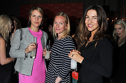 Left to right, the HON.VIRGINIA FRASER, ISSY VON SIMSON and FRANCESCA WHITE at the 2012 Rodial Beautiful Awards held at The Sanderson Hotel, Berners Street, London on 6th March 2012.