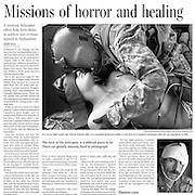Medevac story in The Toronto Star during 2010 troop surge for a story on war in Kandahar, Afghanistan.