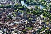 Nederland, Gelderland, Gemeente Zutphen, 17-07-2017;<br /> overzicht van de binnenstad met Sint Walburgiskerk en Librije.<br /> Overview of the town with St. Walburga Church and Librije (medieval library) <br /> <br /> luchtfoto (toeslag op standard tarieven);<br /> aerial photo (additional fee required);<br /> copyright foto/photo Siebe Swart