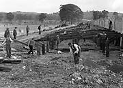 Daniel MacMonagle's famous photograph of the building of Fitzgerald Stadium, Killarney in 1939.<br /> <br /> One of the images celebrating MacMonalge Family 100 years in photography which will be opened by Minister Jimmy Deenihan in the Killarney Library on Saturday evening at 7pm.<br /> <br /> repro free photo for exhibition
