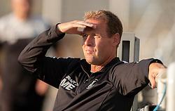 Cheftræner Morten Eskesen (FC Helsingør) under træningskampen mellem FC Helsingør og Næstved Boldklub den 19. august 2020 på Helsingør Stadion (Foto: Claus Birch).