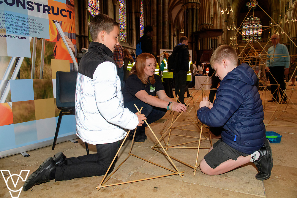 SPARK! Engineering Festival 2019   day one held at Lincoln Cathedral.<br /> <br /> Picture: Chris Vaughan Photography for SPARK<br /> Date: May 3, 2019