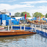 Boat park<br /> <br /> Racing at the Henley Royal Regatta on The Thames river, Henley on Thames, England. Friday 5 July 2019. © Copyright photo Steve McArthur / www.photosport.nz