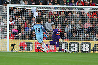 Football - 2016 / 2017 Premier League - Southampton vs. Manchester City<br /> <br /> Leroy Sane of Manchester City makes it two slotting the ball past Southampton's Fraser Forster at St Mary's Stadium Southampton<br /> <br /> COLORSPORT/SHAUN BOGGUST