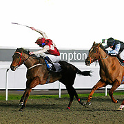 Captain Kendall and Adam Kirby winning the 8.05 race
