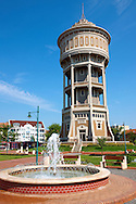 St Istvan Square water tower (Viztorony), Szedeg, Hungary .<br /> <br /> Visit our HUNGARY HISTORIC PLACES PHOTO COLLECTIONS for more photos to download or buy as wall art prints https://funkystock.photoshelter.com/gallery-collection/Pictures-Images-of-Hungary-Photos-of-Hungarian-Historic-Landmark-Sites/C0000Te8AnPgxjRg