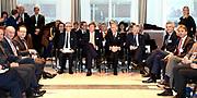 Staatsbezoek aan Nederland van Zijne Majesteit Koning Filip der Belgen vergezeld door Hare Majesteit Koningin <br /> Mathilde aan Nederland.<br /> <br /> State Visit to the Netherlands of His Majesty King of the Belgians Filip accompanied by Her Majesty Queen<br /> Mathilde Netherlands<br /> <br /> op de foto / On the photo: Koning Willem-Alexander en Koning Filip bij Belgisch- Nederlandse Conferentie over Innovatief Ondernemerschap en Finance in de Euronext, Beursplein 5, Amsterdam