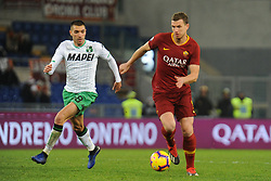December 26, 2018 - Rome, Italy - Edin Dzeko of AS Roma during the Italian championship Serie A football match between AS Roma and Sassuolo on December 26, 2018 at Stadio Olimpico in Rome, Italy  (Credit Image: © Federica Roselli/NurPhoto via ZUMA Press)