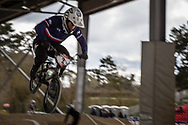 #2 (ANDRE Sylvain) FRA at the 2018 UCI BMX Superscross World Cup in Saint-Quentin-En-Yvelines, France.