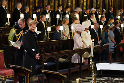 Prince Harry (right) and his best man, the Duke of Cambridge, in St George's Chapel at Windsor Castle ahead of his wedding to Meghan Markle.