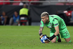 August 21, 2018 - Lisbon, Portugal - PAOK's goalkeeper Alexandros Paschalakis in action during the UEFA Champions League play-off first leg match SL Benfica vs PAOK FC at the Luz Stadium in Lisbon, Portugal on August 21, 2018. (Credit Image: © Pedro Fiuza via ZUMA Wire)