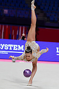 Pigniczki Fanni from Hungary competes during the Rhythmic Gymnastics Individual World Cup qualification at Vitrifrigo Arena on May 28/29/30 2021, in Pesaro, Italy.