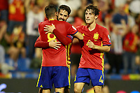 Spain's Koke Resurreccion, Isco Alarcon and Alvaro Odriozola celebrate goal during FIFA World Cup 2018 Qualifying Round match. October 6,2017.(ALTERPHOTOS/Acero)