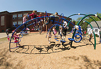 Holy Trinity recess at the playground.  Karen Bobotas for the Laconia Daily Sun