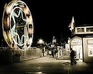Night scene in Newport Beach, CA