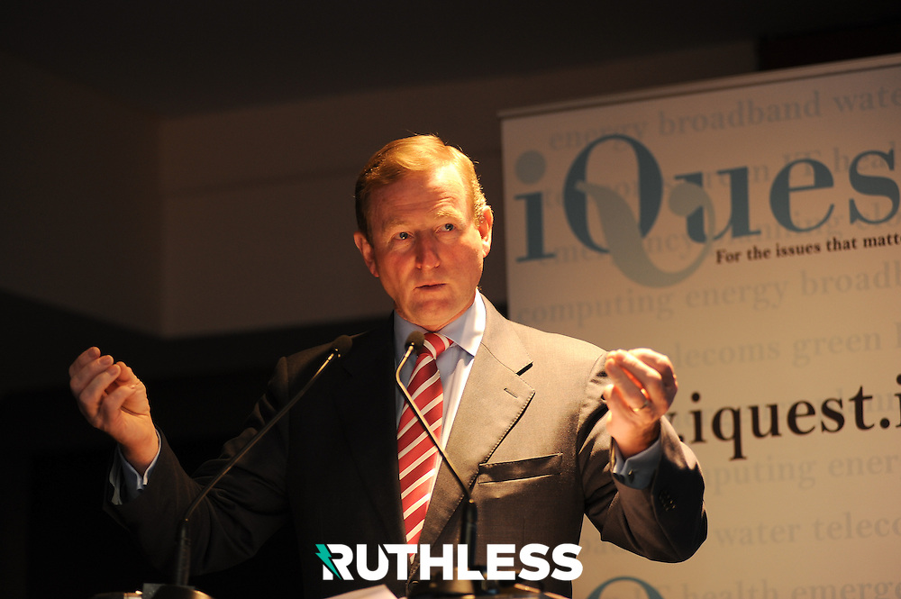 Taoiseach Enda Kenny gives the Government address at the 3rd Cloud Computing summit in Croke Park organised by iQuest.