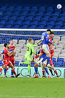 Football -  2020 / 2021 Sky Bet Championship - Cardiff City vs Bristol City - Cardiff City Stadium<br /> <br /> Goalkeper Alexander Smithies of Cardiff City joins the attack in the Bristol box in the final minutes <br /> in a match played without fans<br /> <br /> COLORSPORT