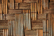 Bamboo wall detail<br /> Nagaland,  ne India