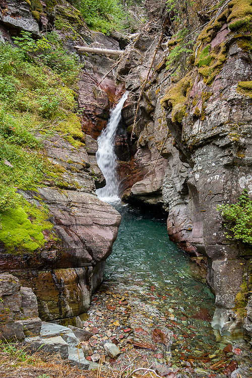 Hidden Falls, Grinnell Lake Trail
