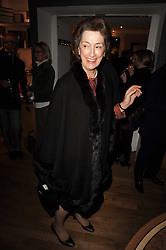 HM the Queen's Lady in Waiting LADY SUSAN HUSSEY at a party to celebrate 25 years of the David Linley store , 60 Pimlico Road, London on 16th November 2010.
