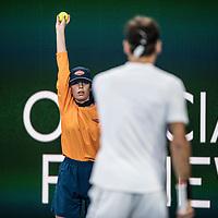 A ball kid on day ten of the 2018 Australian Open in Melbourne Australia on Wednesday January 24, 2018.<br /> (Ben Solomon/Tennis Australia)