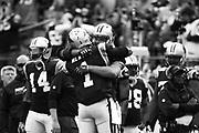 December 24, 2016: Carolina Panthers vs Atlanta Falcons. Cam Newton, Greg Olsen celebrate Olsen's 1000 yard season