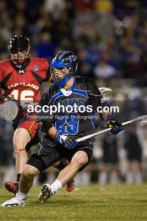 01 March 2008: Duke Blue Devils men's lacrosse midfielder Mike Catalino (29) in a 15-7 win over the Maryland Terrapins at Koskinen Stadium in Durham, NC