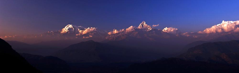 Great Himalayan Range (includes the peaks of Anapurna and Machupuchare (Fishtail)