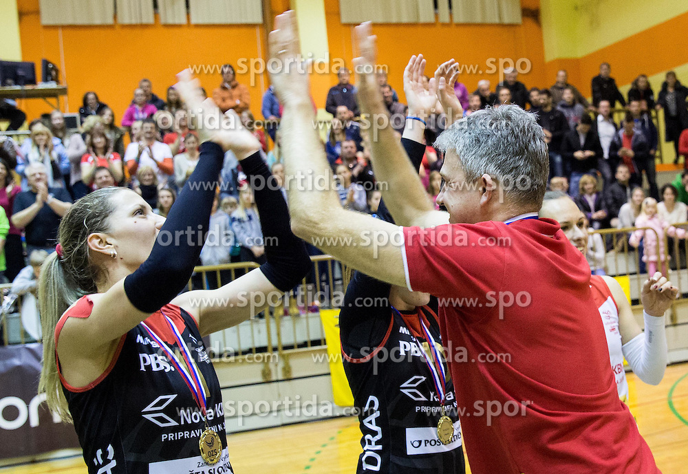 Bruno Najdic, head coach of Nova KBM Branik after winning during volleyball match between Nova KBM Branik Maribor and OK Luka Koper in Final of Women Slovenian Cup 2014/15, on January 18, 2015 in Sempeter v Savinjski dolini, Slovenia. Photo by Vid Ponikvar / Sportida