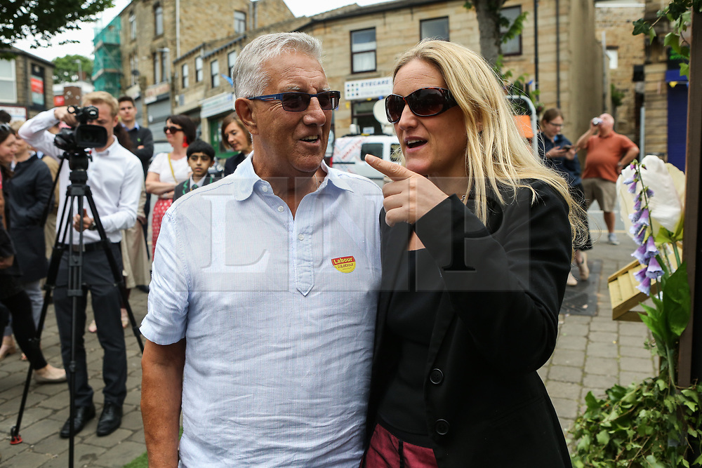 © Licensed to London News Pictures. 16/06/2017. Birstall, UK. Kim Leadbeater, Jo Cox's sister, in Birstall town square where the Labour MP was murdered a year ago today. Events are planned to take place across the country this weekend in memory of Jo Cox in what is being called 'The Great Get Together'. Credit: Ian Hinchliffe Photo credit : Ian Hinchliffe/LNP