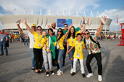 June 17, 2018 - Rostov Do Don, Rússia - ROSTOV DO DON, RO - 17.06.2018: BRAZIL VS SWITZERLAND - Goalkeeper's family during match between Brazil and Switzerland valid for the first round of Group E of the 2018 World Cup held at the Rostov Arena in Rostov on Don, Russia. (Credit Image: © Marcelo Machado De Melo/Fotoarena via ZUMA Press)