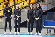 The staff of the Italian national rhythmic gymnastics team. Chiara Ianni, Federica Bagnera, Olga Tishina.