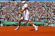 Roland Garros 2011. Paris, France. May 28th 2011..Serbian player Novak DJOKOVIC against Juan Martin DEL POTRO