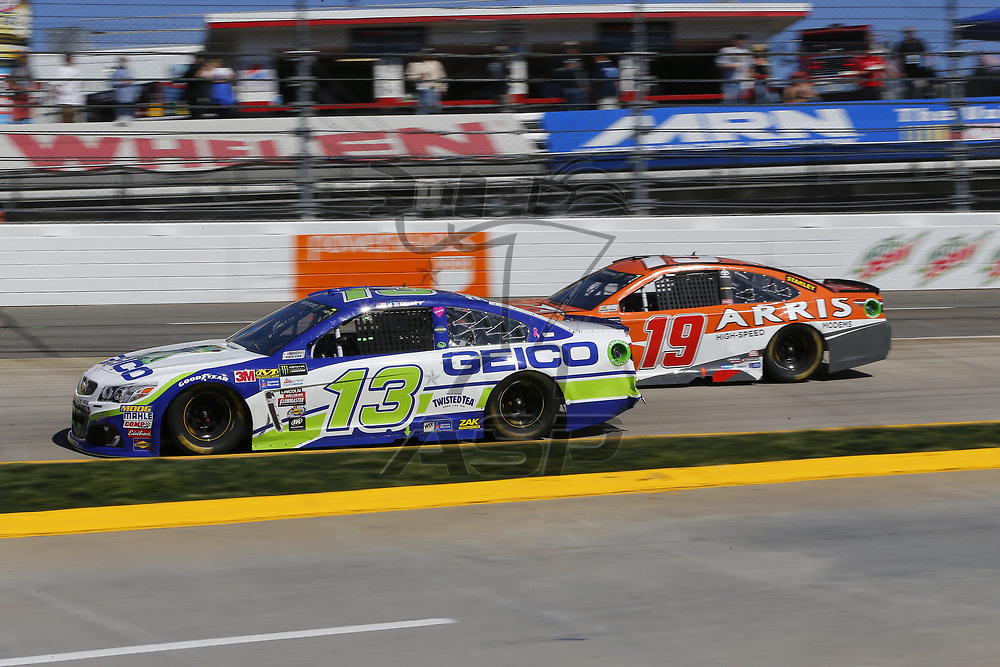 April 02, 2017 - Martinsville, Virginia , USA: The Monster Energy NASCAR Cup Series teams take to the track to practice for the STP 500 at Martinsville Speedway in Martinsville, Virginia .