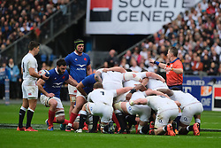 February 2, 2020, Saint Denis, Seine Saint Denis, France: The Pack of England Team in action during the Guinness Six Nations Rugby tournament between France and  England at the Stade de France - St Denis - France.. France won 24-17 (Credit Image: © Pierre Stevenin/ZUMA Wire)