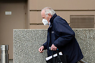 A elderly man wearing a mask is seen exiting Parliament Station during COVID-19. A further 238 Coronavirus cases have been discovered overnight, bringing Victoria's active cases to over 2000, speculation is rising that almost all of Victoria's current cases stem from the Andrews Government botched hotel quarantine scheme as well as the Black Lives Matter protest.  Premier Daniel Andrews warns that Victoria may go to Stage 4 lockdown if these high numbers continue. (Photo be Dave Hewison/ Speed Media)